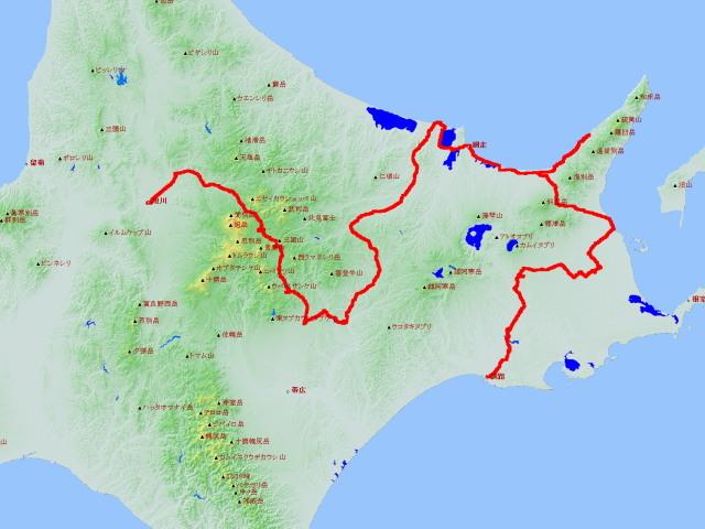 釧路2017-7旭川ー網走ー計画