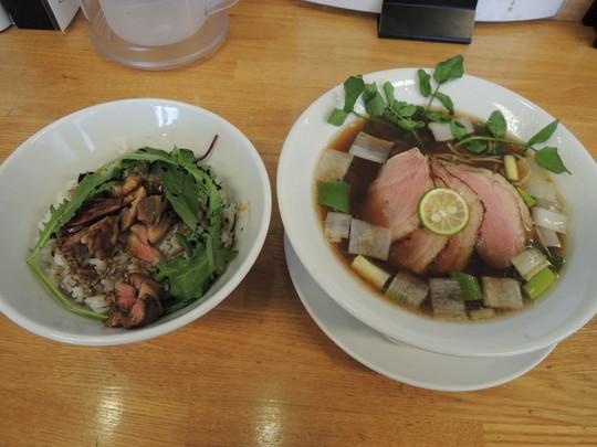 鴨出汁そば+紀州鴨チャーシュー3枚増し+鴨丼(中)