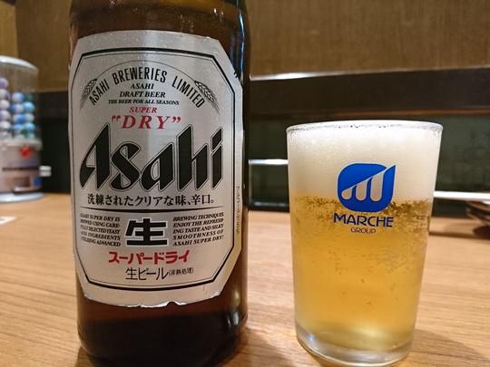 ビール「中びん」(486円)