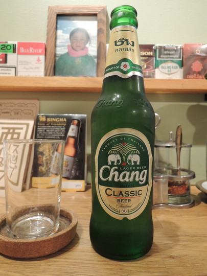 タイのビール「ビア チャーン」(600円)