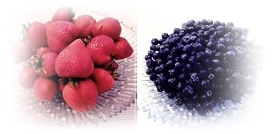 イチゴ&ブルーベリー