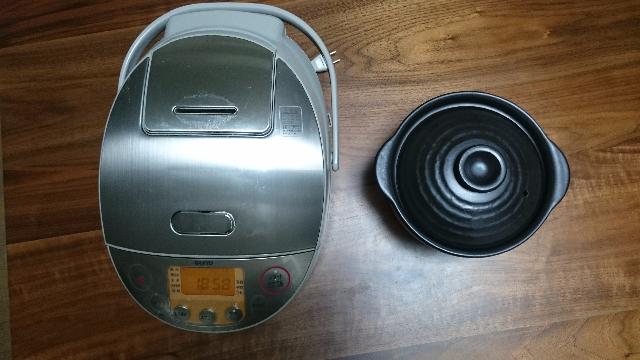炊飯器と炊飯鍋ま俯瞰
