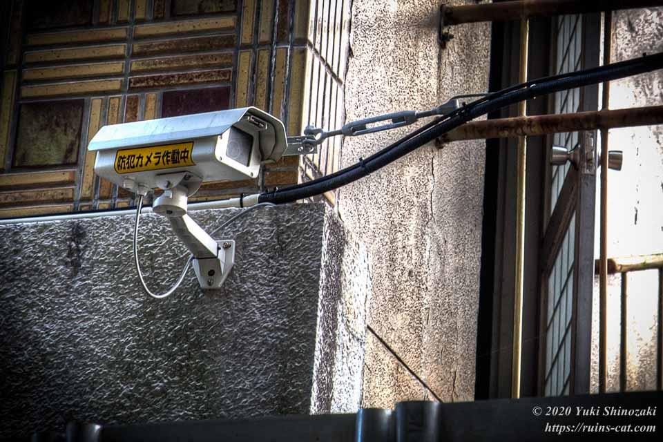 電源のきちんと来ている監視カメラ