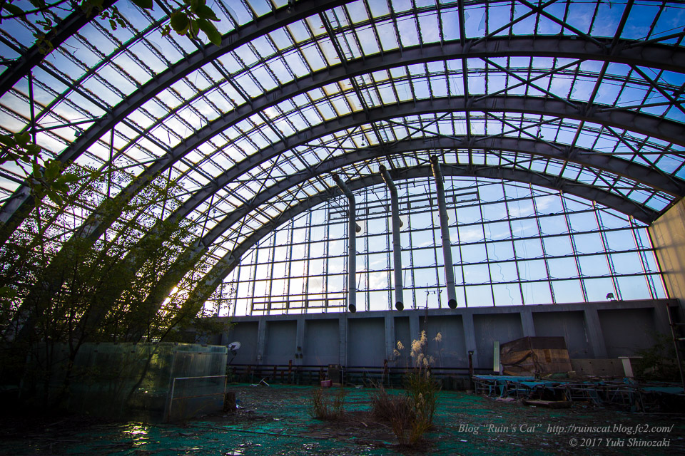 【廃墟】スパガーデン 湯~とぴあ(スパリゾート大鰐)_フラワーパーク(温室)全景