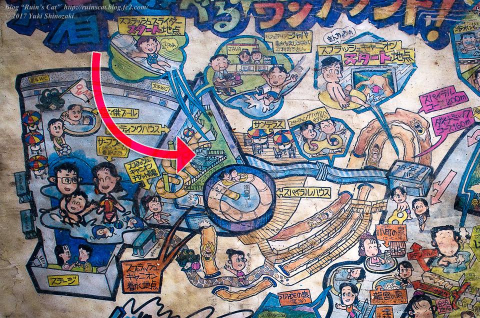 【廃墟】スパガーデン 湯~とぴあ(スパリゾート大鰐)_その1探索経路図示