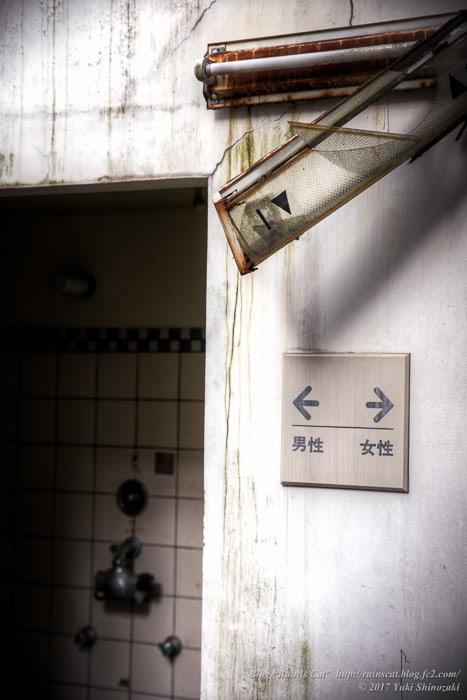 【廃墟】スパガーデン 湯~とぴあ(スパリゾート大鰐)_男女大浴場合流部