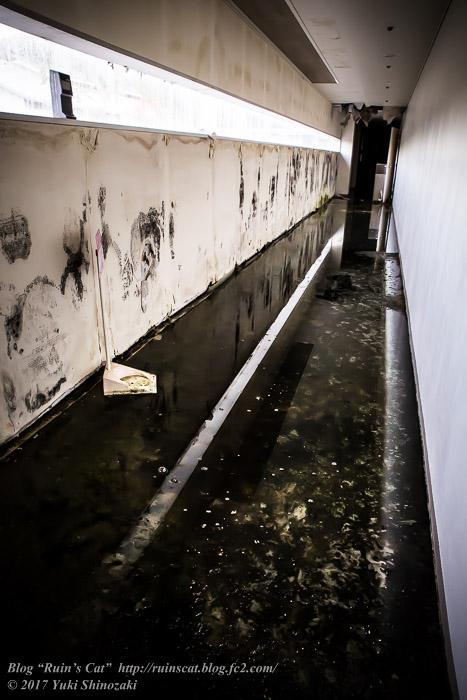 【廃墟】スパガーデン 湯~とぴあ(スパリゾート大鰐)_水没の廊下