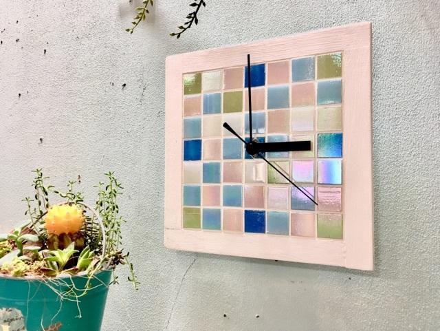 ガラスタイル壁掛け時計②