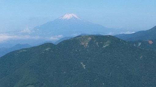 表尾根と富士山