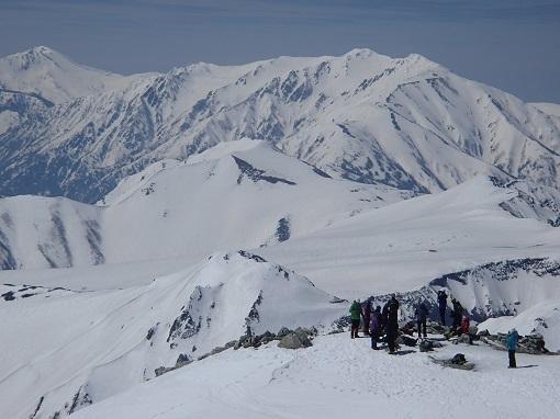 立山の稜線