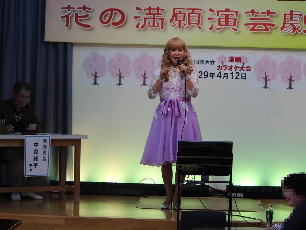 紫ショートドレス舞台(8)