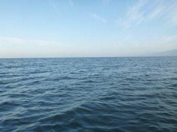 (3)波ほとんどなし