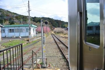 上総亀山駅到着