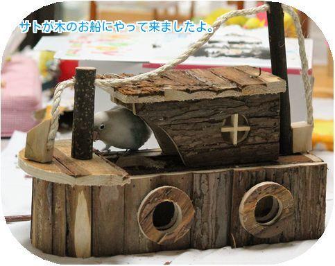 ②木のお船にサト