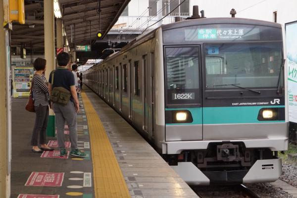 2017-05-03 常磐線E233系マト8編成 各駅停車代々木上原行き
