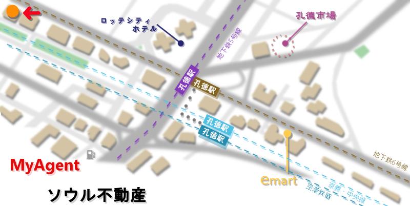 韓国 コンドク ほっともっと HOTTOMOTTO 地図