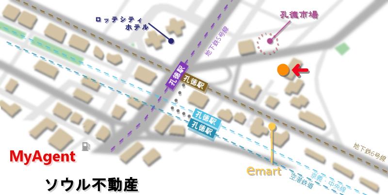 韓国 マポ noir ne(ヌアネ) 地図