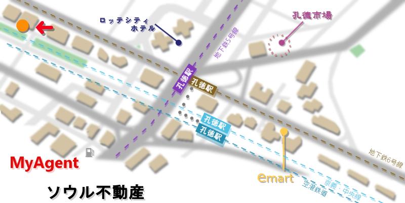 韓国 マポ マカロンロンロン 地図