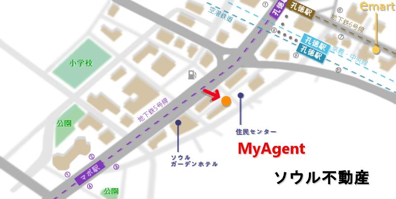 韓国 マポ 冷麺 地図