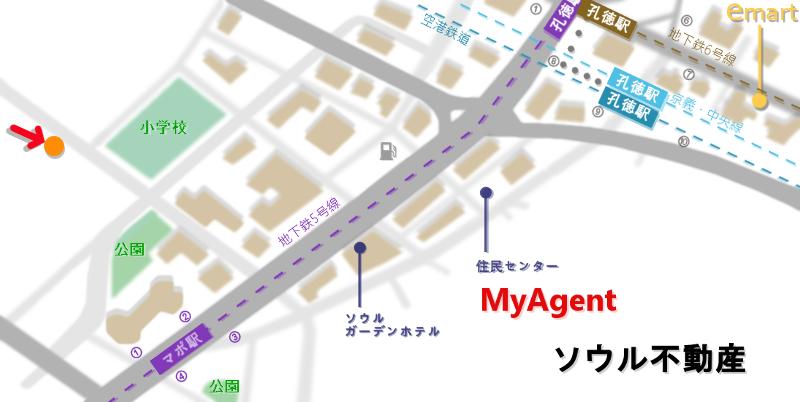 韓国 マポ 踊る王餃子 地図