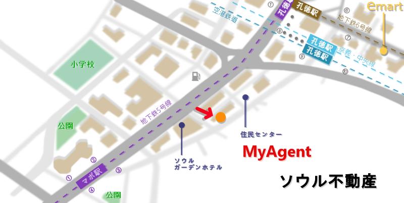 韓国 マポ ユクサム冷麺 マポ店 地図