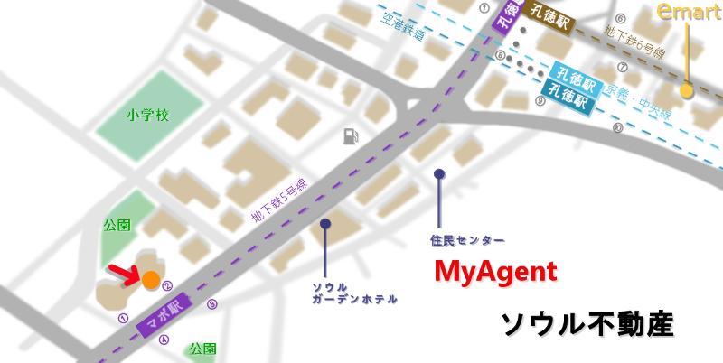 韓国 マポ ソンスキンパブ  地図