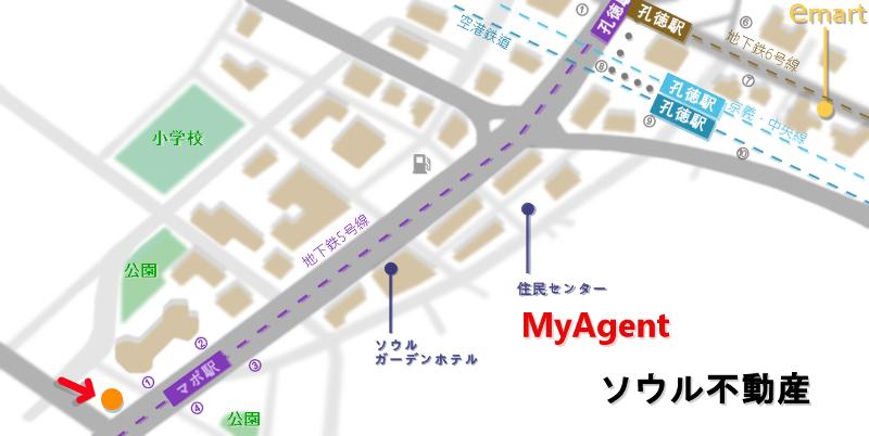 韓国 マポ 郵便局 地図