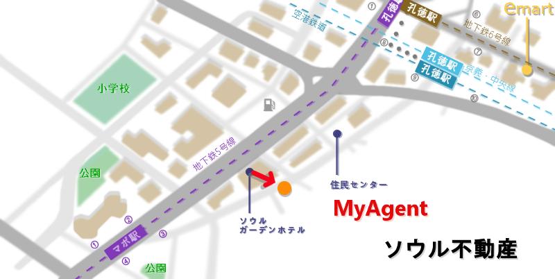 韓国 マポ ワンガミル  地図