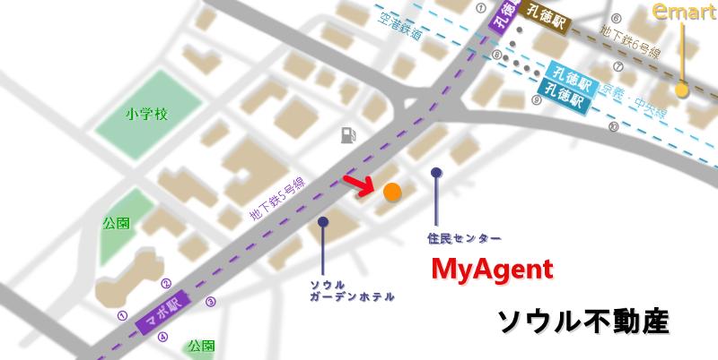 韓国 マポ クリダ クム地図