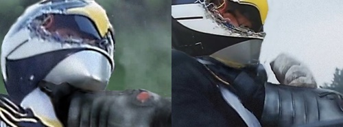戦隊 ヒーロー ジェットマン マスク割れ 破壊 ブラックコンドル やられ ピンチ