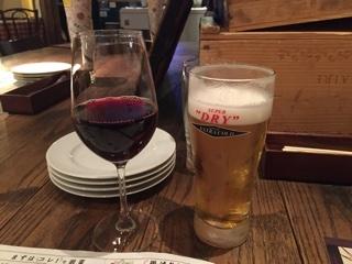 赤ワインとエクストラコールド