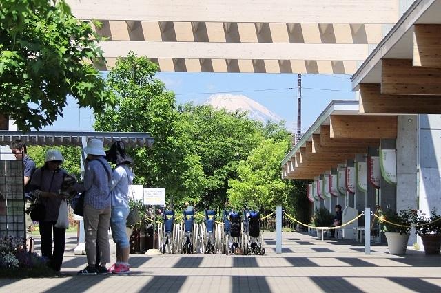 正面入り口から見た富士山