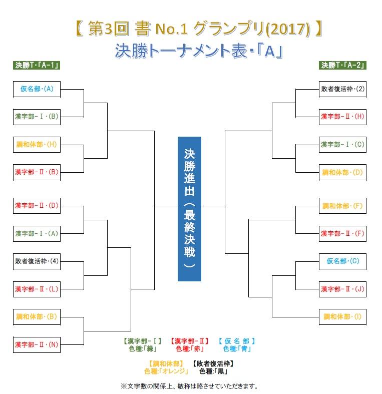 第3回 書 No-1 グランプリ-2017 決勝トーナメント・A 0606