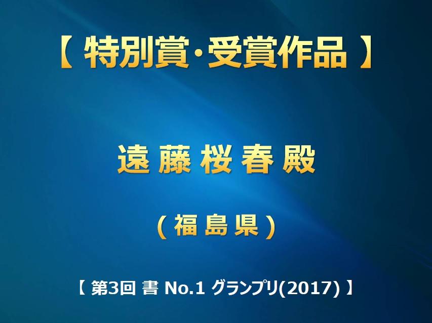 第3回 書 No-1 グランプリ(2017) 入賞作品・特別賞画像2017-0709-0950