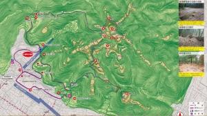 郡山城跡 地図