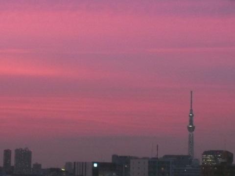 20170622夕焼けとスカイツリー