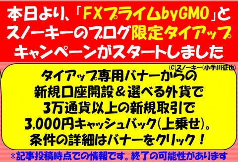 FXプライムbyGMOタイアップキャンペーン