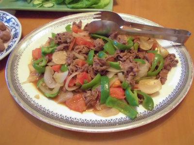 5.23牛肉と野菜の焼き肉タレ炒め