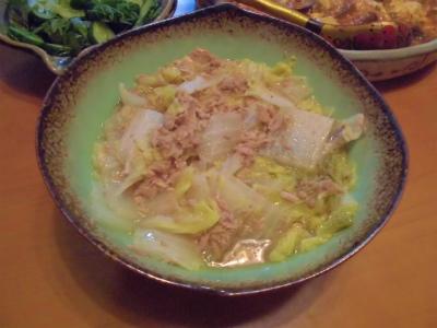 7.8白菜のツナ煮