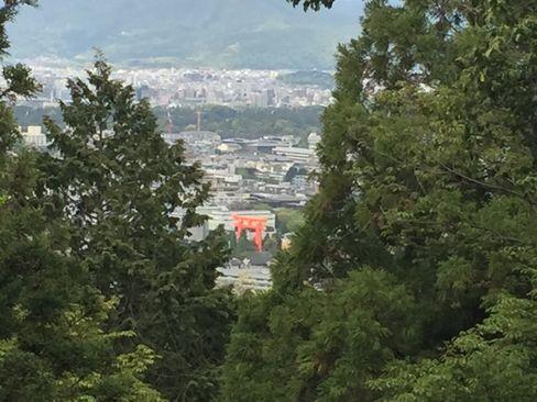 日向大神宮・山頂の鳥居から京都市街_H29.04.25撮影