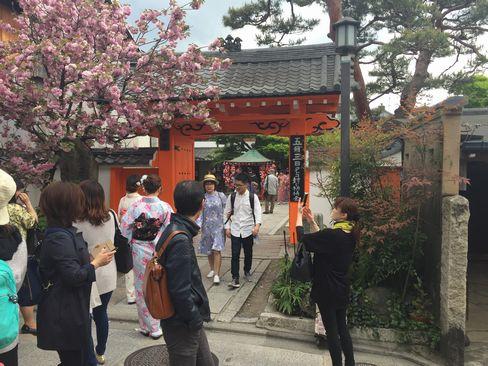 八坂庚申堂門前_H29.04.25撮影