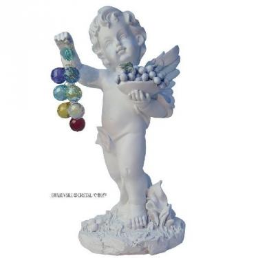 フルーツの天使ちゃん七色ぶどう70mm 幸運を運ぶ天使のサンキャッチャー