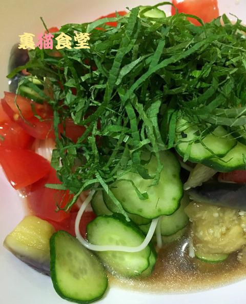 6月9日サラダ素麺