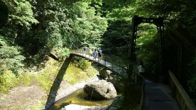 吊り橋 袋田の滝