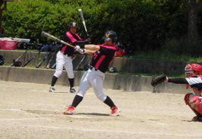 P6183237Le.visage四回裏1死二塁から4番中村が左越え二塁打を放ち1点先制
