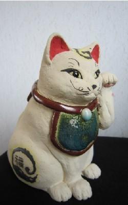 伝統招き猫2-すず音窯