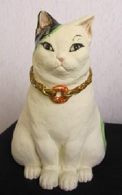 福招き猫置物-すず音窯