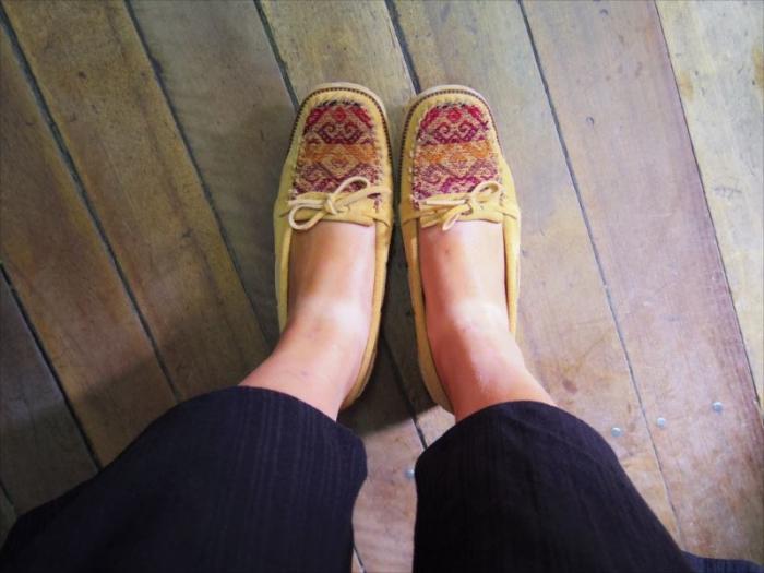オーダーメイド靴完成 (1)