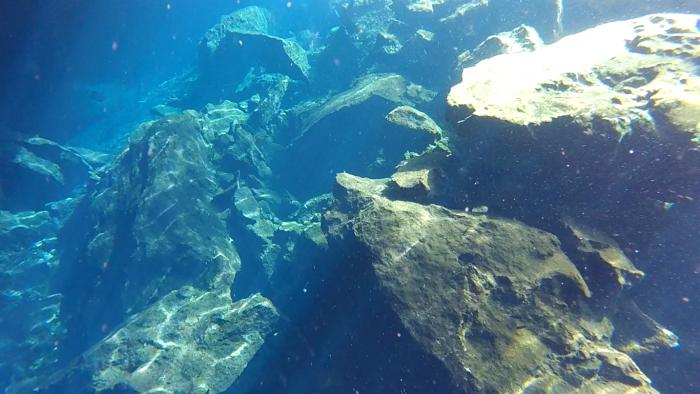 セノーテでダイビング2