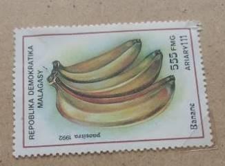 マダガスカルのバナナ切手